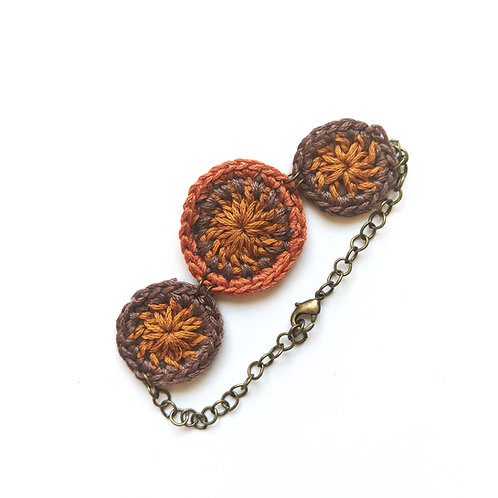 brown crochet bracelet