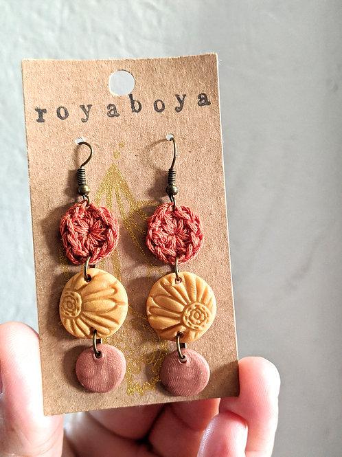 fall daisy earrings