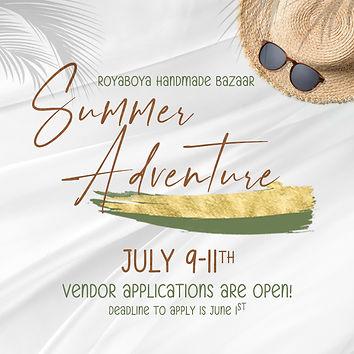 Royaboya Handmade vendor application for Summer Bazaar