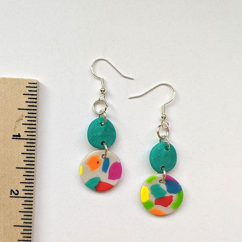 rainbow terrazzo earrings