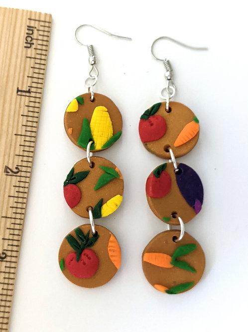 Garden dangle earrings
