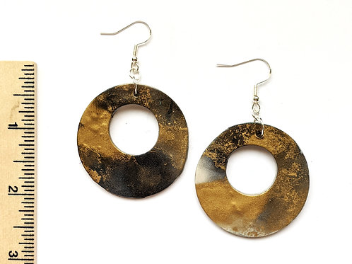Black and gold lux earrings