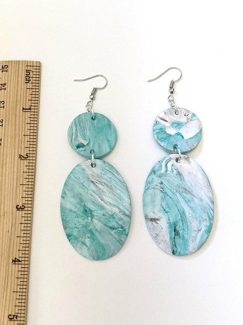 Abstract ocean statement earrings