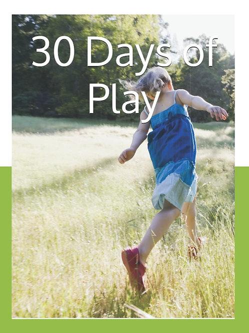 30 Days of Play, parenting journal with prompts