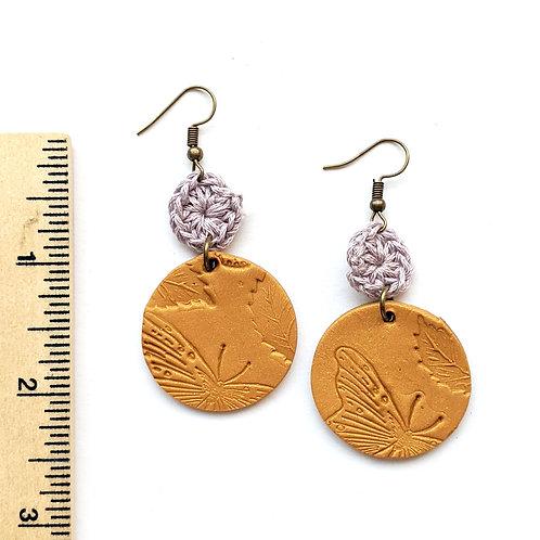Springtime butterfly earrings
