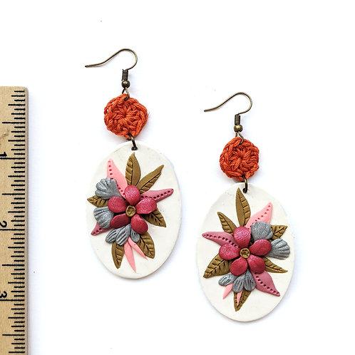 pink easter bouquet earrings