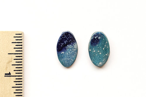 winter clay stud earrings