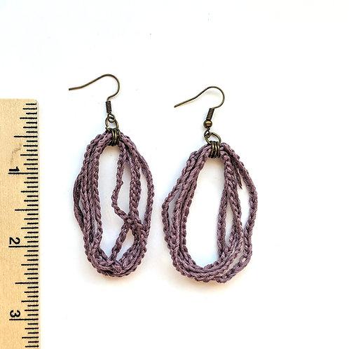 lavender lariat earrings