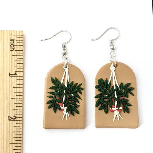 bold boho planter handmade earrings