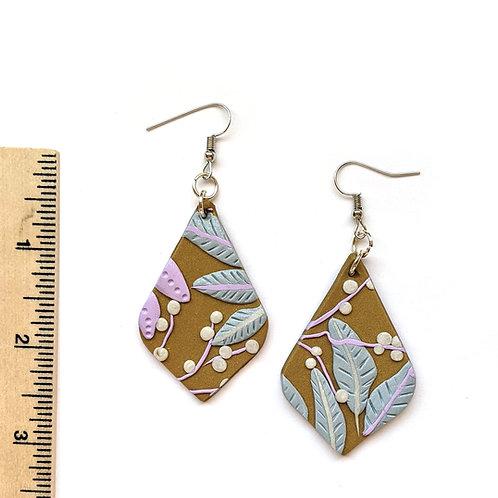 Pastel floral earrings