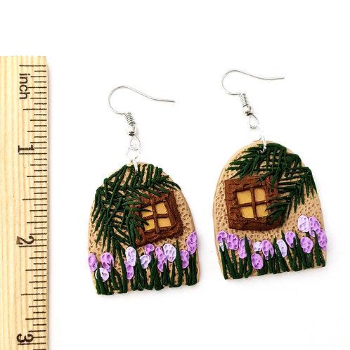 lupine cottage handmade earrings