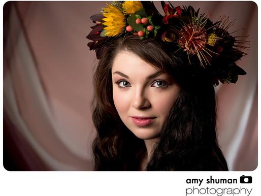 Flower Crown Portraits by Sacramento Portrait Photographer