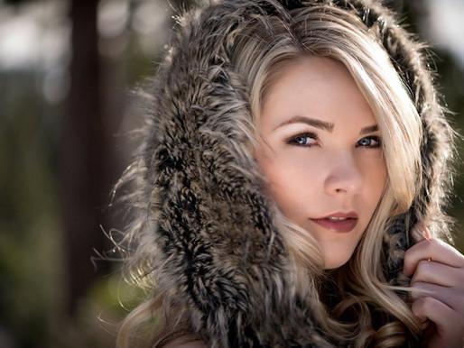 Graduation: Senior Portraits in the Snow by Sacramento Photographer