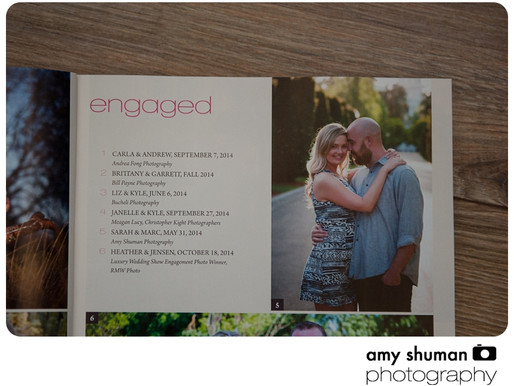 Amy Shuman Photography in Spring/Fall Sacramento Bride and Groom Magazine