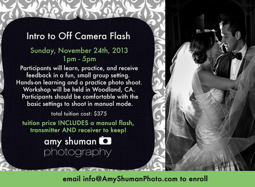 Photography Workshop: Intro to Off Camera Flash – Woodland, CA