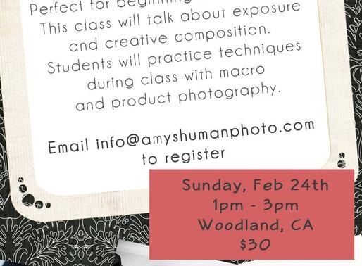 Digital Photography Class, Woodland, CA workshop