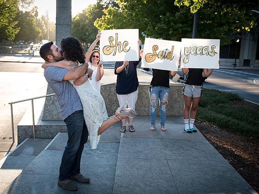 Wedding Proposal photography by Sacramento photographer