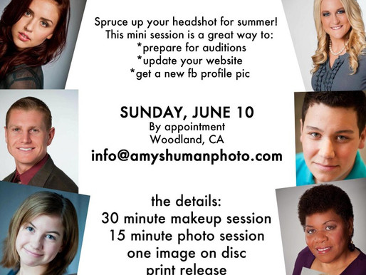 Headshot Day tomorrow!