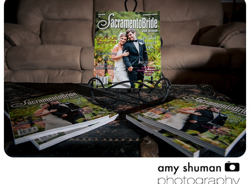 Sacramento wedding photographer featured in Sacramento Bride and Groom Magazine!