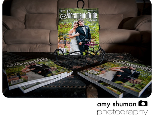 Sacramento wedding photographer featured in Sacramento Bride and Groom Magazine!