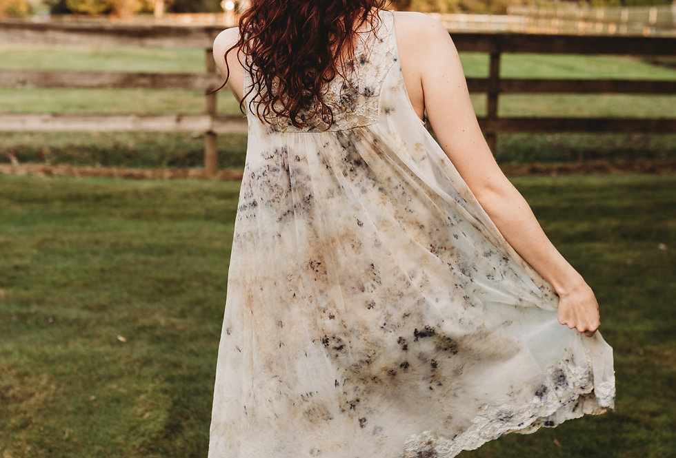 Eco Dyed Vintage Baby Doll Nightie