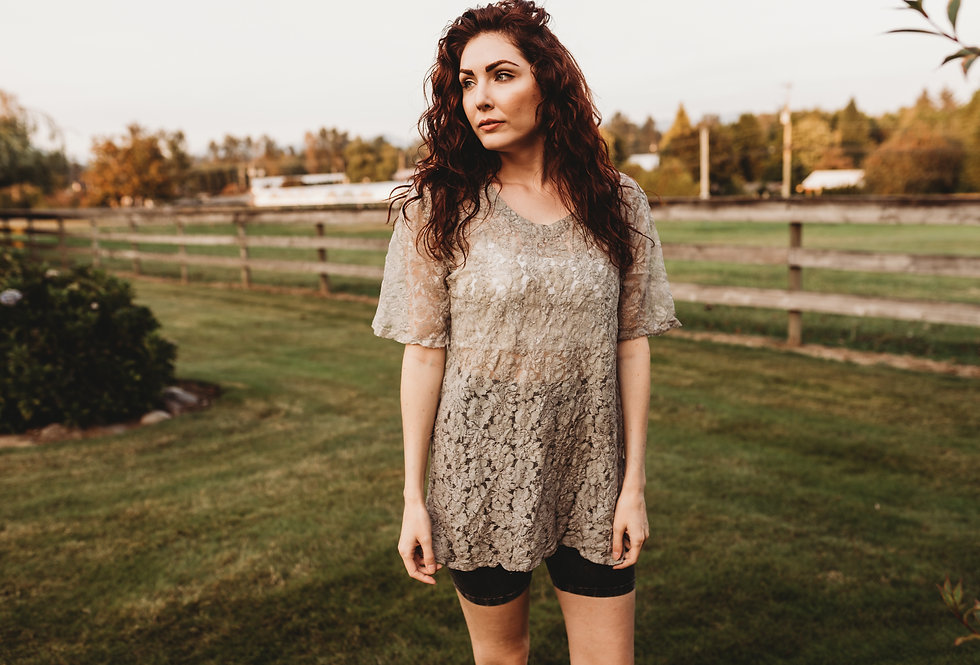 Sheer Lace Eco-dyed Shirt