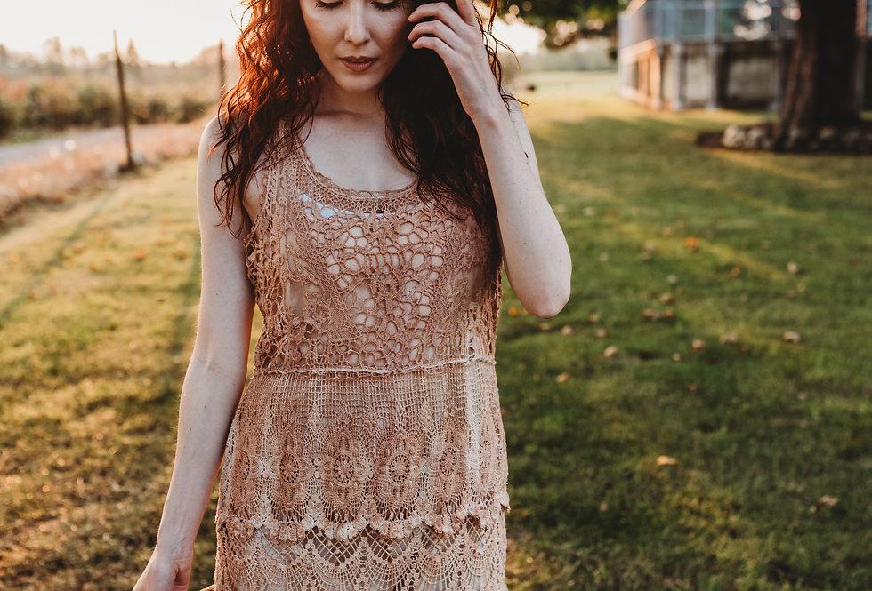 Eco-Dyed Crochet Dress