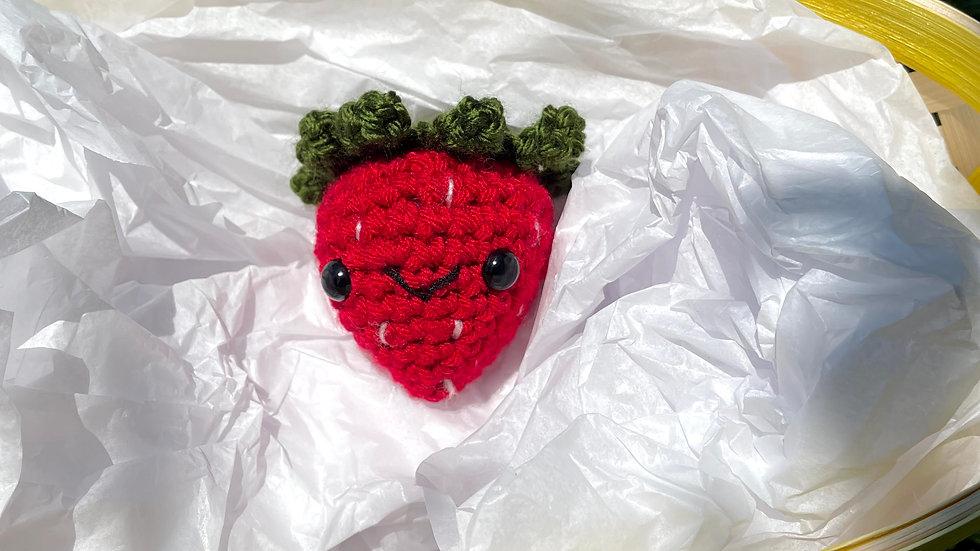 Bekah's Yarn Critters - Strawberry