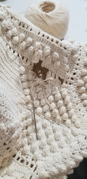 130 Year Old Tobacco Cotton Coverlet