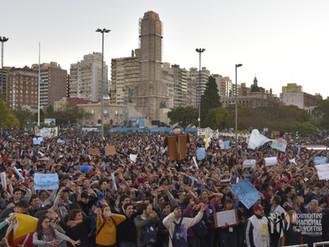 Más de 18.000 jóvenes peregrinaron con un sí a la vida en el día de la Patria