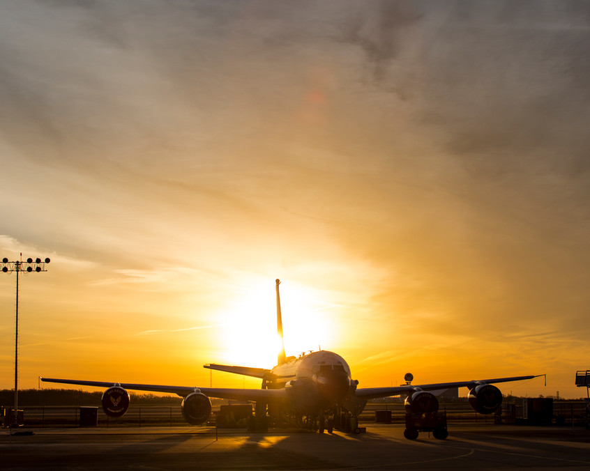 Sunrise flight line RC-135