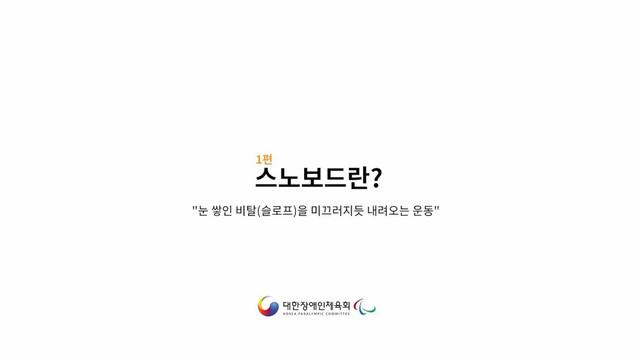 장애인스노보드 - 1편(스노보드란?)