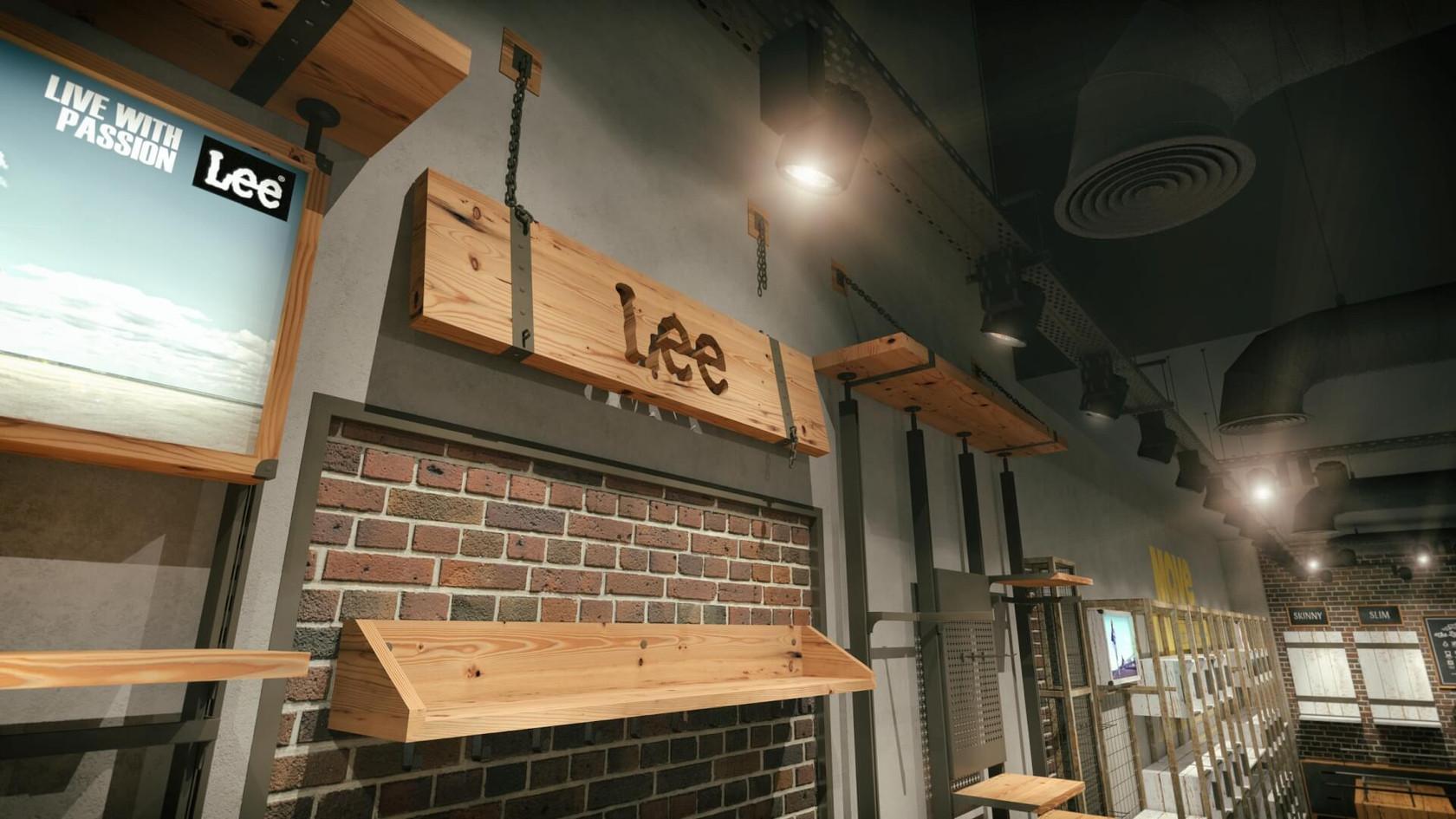 Lee Wrangler - Denim Store Shop Design