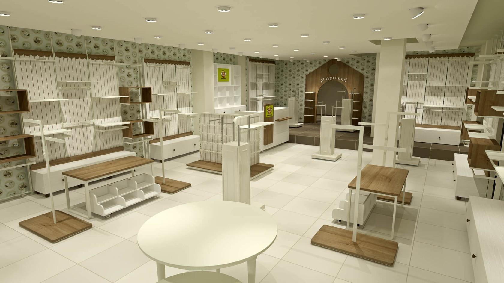 Çocuk Giyim Mağazası Tasarımları | Shopline Mağaza Dekorasyonu | Bombonicci