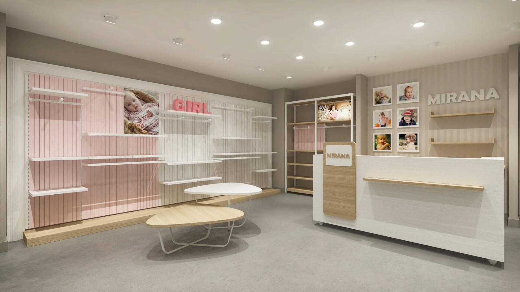 Çocuk Giyim Mağazası Tasarımları | Shopline Mağaza Dekorasyonu | Mirana