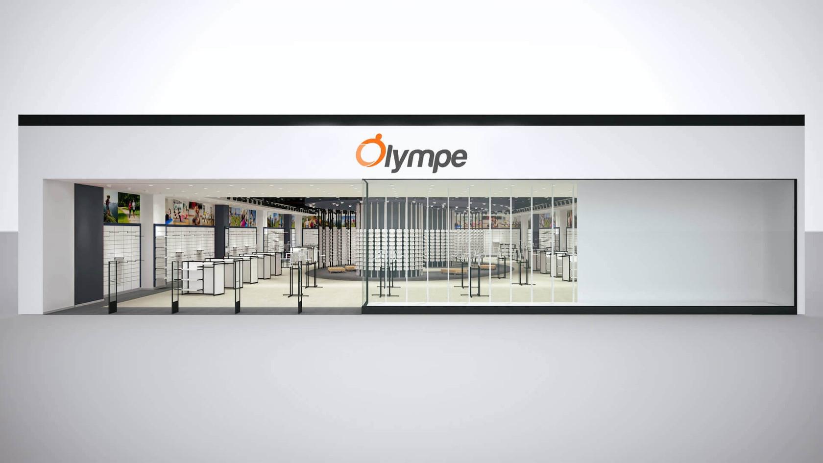 Spor Giyim Mağazası Tasarımları | Shopline Mağaza Dekorasyonu | Olympe