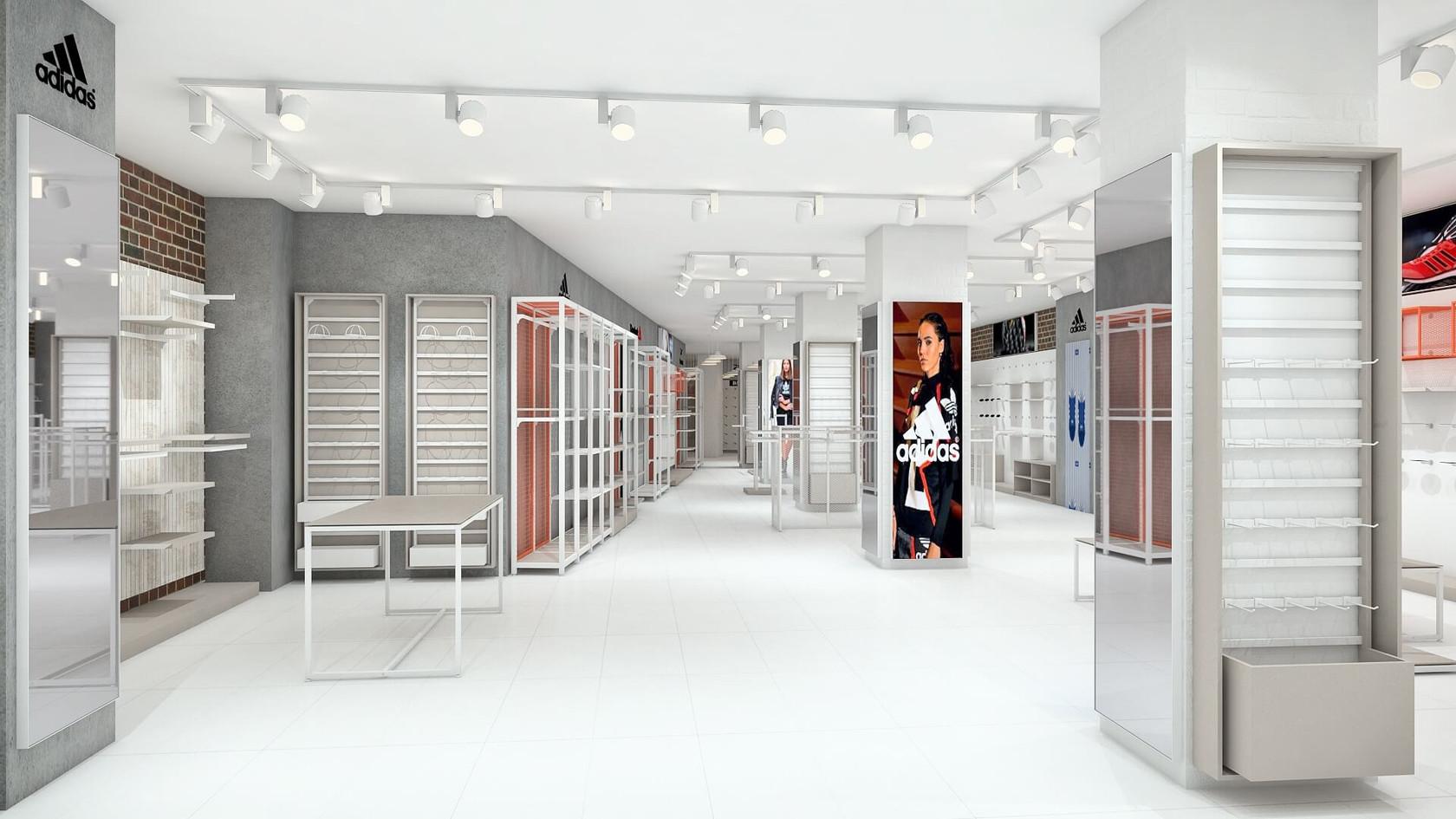 Spor Giyim Mağazası Tasarımları | Shopline Mağaza Dekorasyonu | Alriyadi Sports