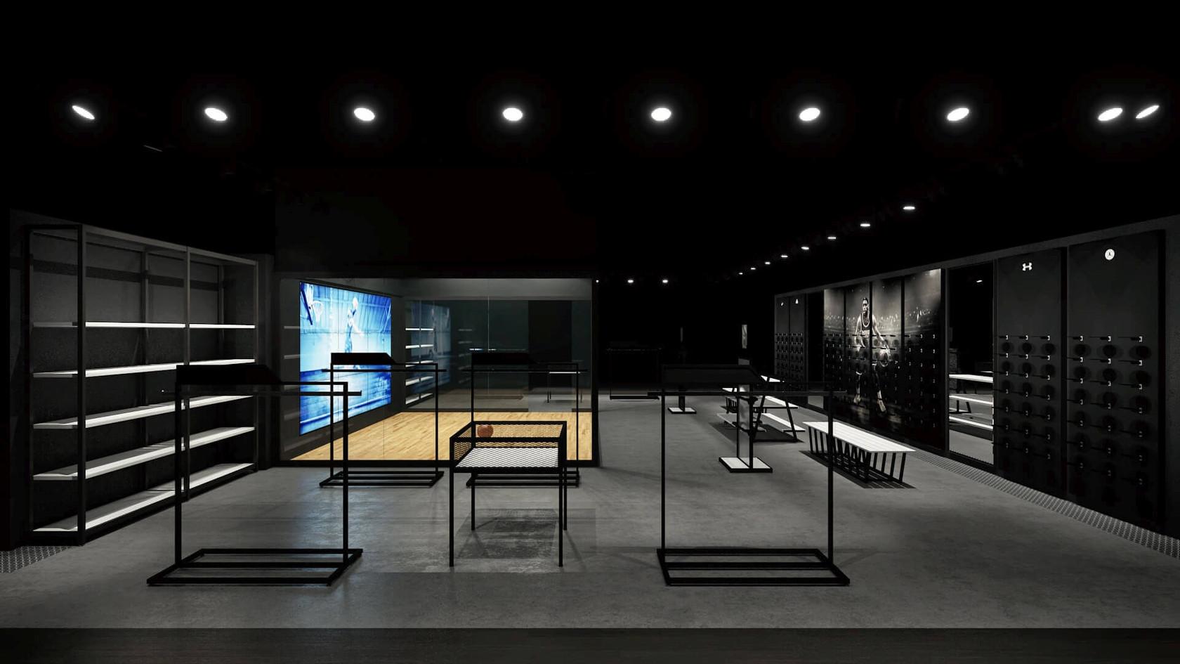 Spor Giyim Mağazası Tasarımları | Shopline Mağaza Dekorasyonu | Big Sport