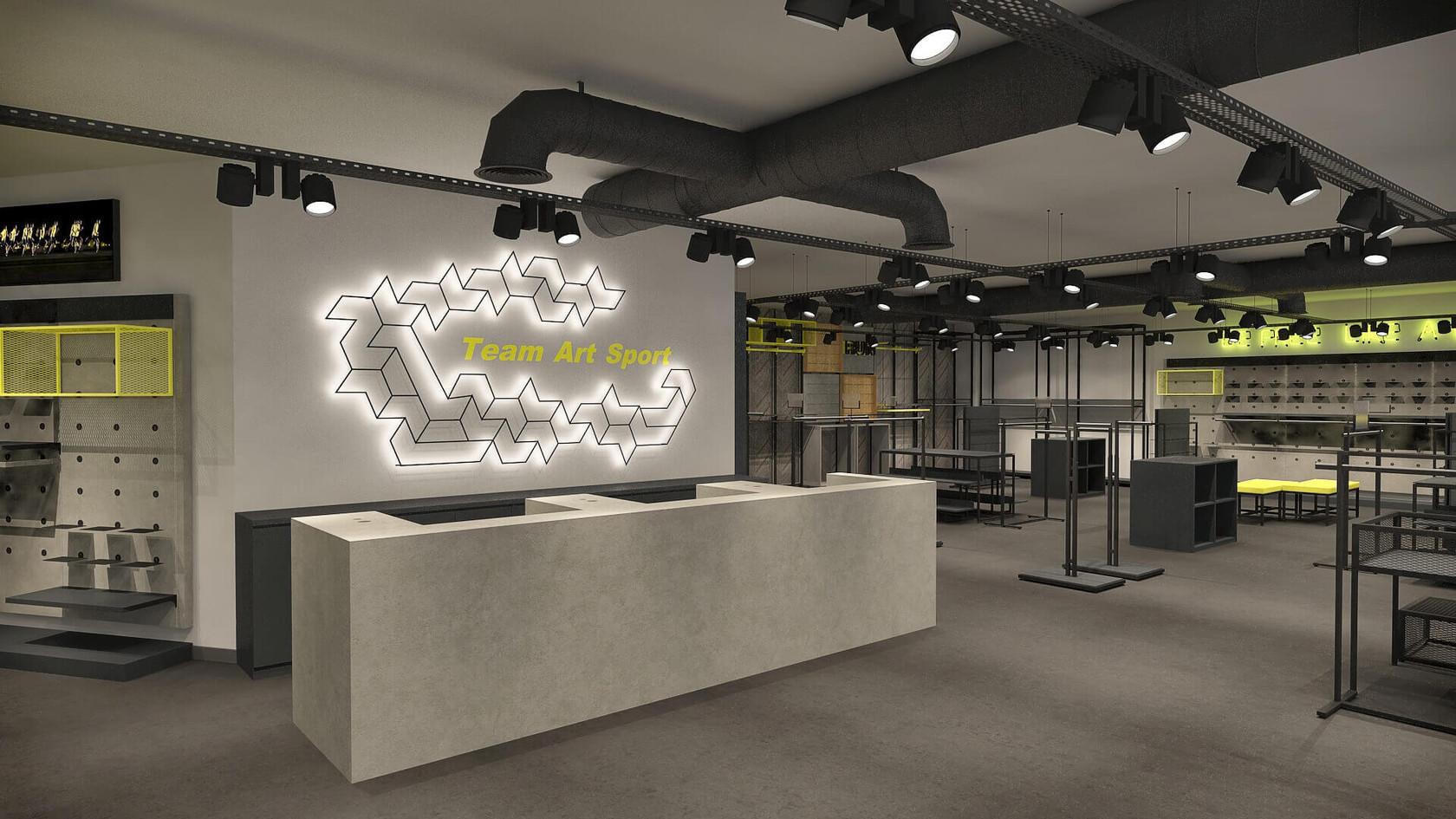 Spor Giyim Mağazası Tasarımları | Shopline Mağaza Dekorasyonu | Team Sport