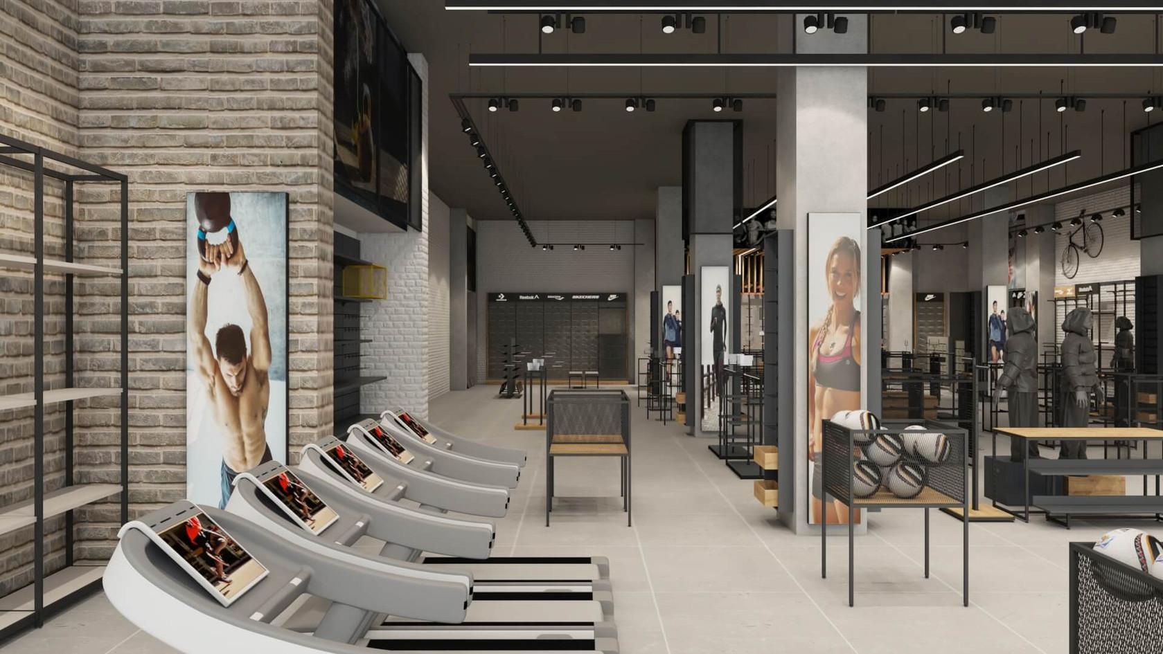 Spor Giyim Mağazası Tasarımları | Shopline Mağaza Dekorasyonu | MGS Sport