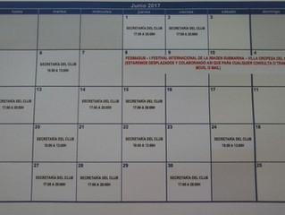 Horario de Secretaría mes de Junio