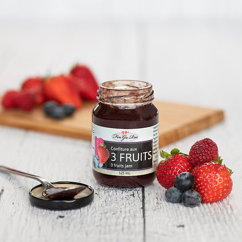 Confiture 3 fruits - 3 fruits jam 125ml
