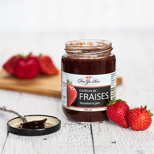 Confiture de fraises - Strawberry jam 375ml
