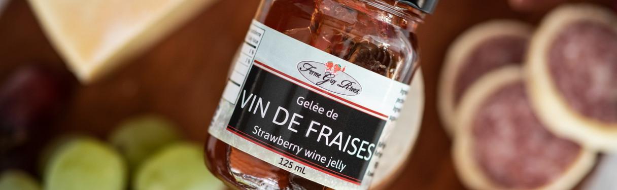Gelée de vin de fraises
