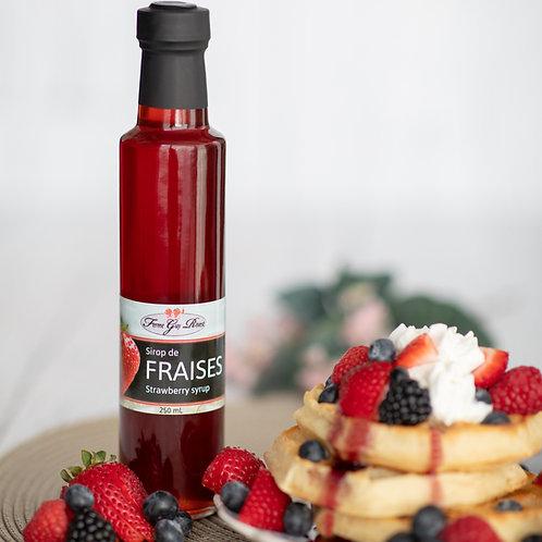 Sirop de fraises - Strawberry syrup