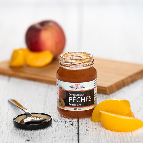 Confiture pêches - Peach jam 125ml