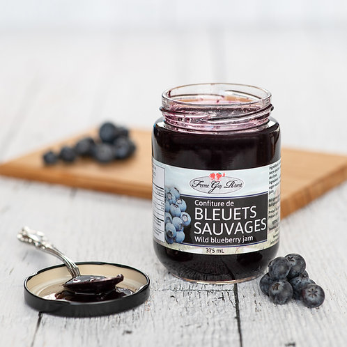 Confiture de bleuets sauvages - Wild blueberry jam 375ml