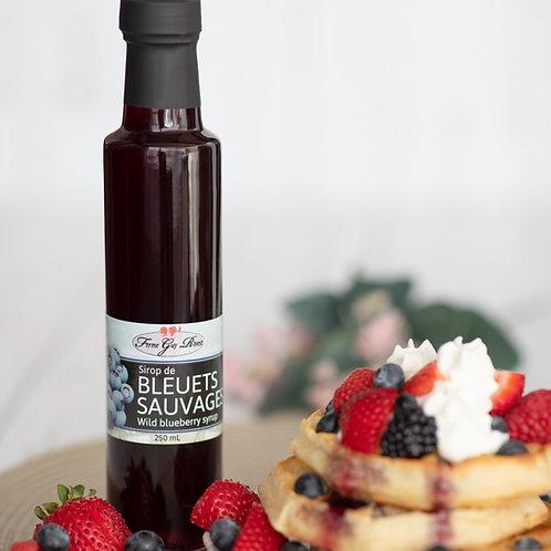Sirop de bleuets sauvages - Wild blueberry syrup