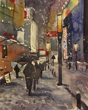 'Snowy Night in Tokyo'