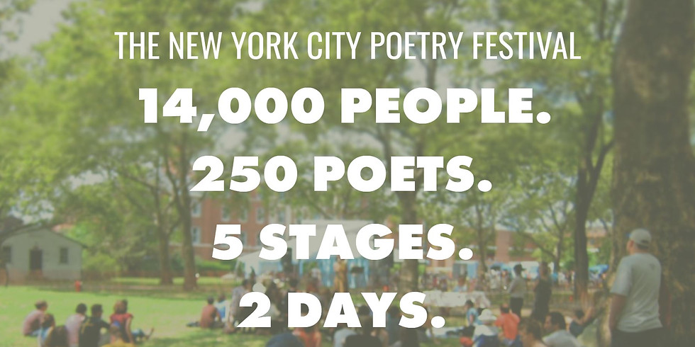The 9th Annual New York City Poetry Festival at Governors Island